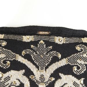St. John Tops - ST. JOHN Sport – Black Gold Knit Sweater